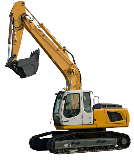 Excavator for Underground Fiber Network
